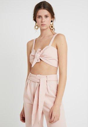 TIE FRONT BRALET - Blouse - pink