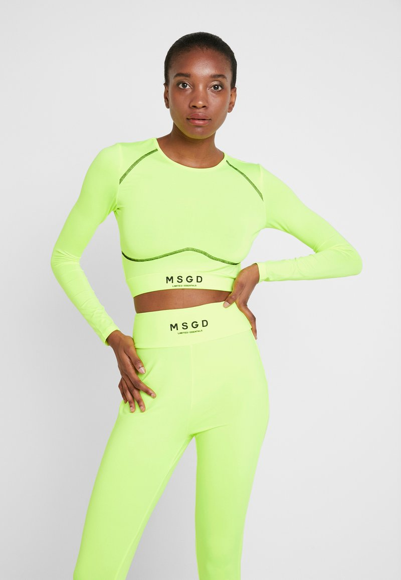 Missguided Tall - LONG SLEEVE ACTIVE - Langærmede T-shirts - lime