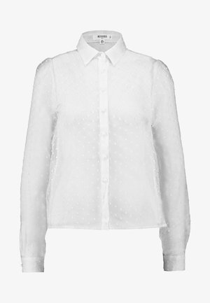 PUFF SLEEVE - Button-down blouse - white