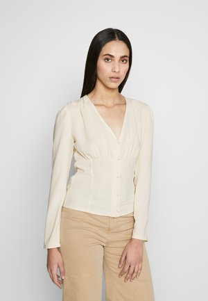 BUTTON UP PANELLED BLOUSE - Blouse - cream