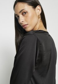 Missguided Tall - WRAP FRONT BODYSUIT - Blouse - black - 4