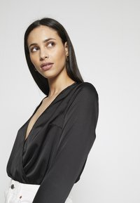 Missguided Tall - WRAP FRONT BODYSUIT - Blouse - black - 3