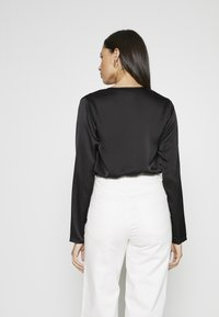 Missguided Tall - WRAP FRONT BODYSUIT - Blouse - black - 2