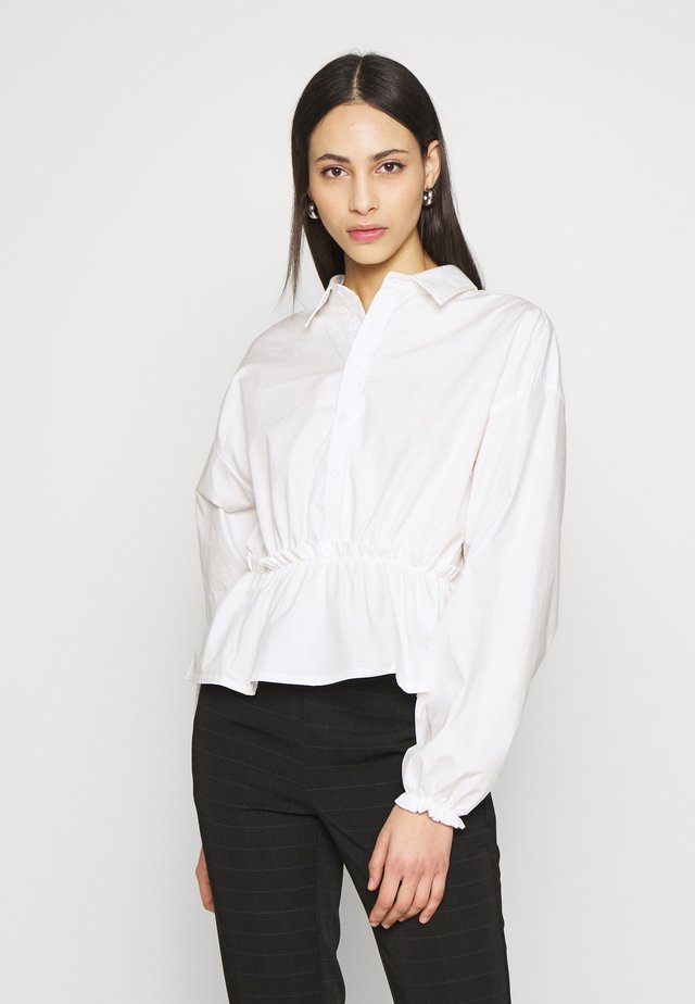 GATHERED WAIST - Blus - white