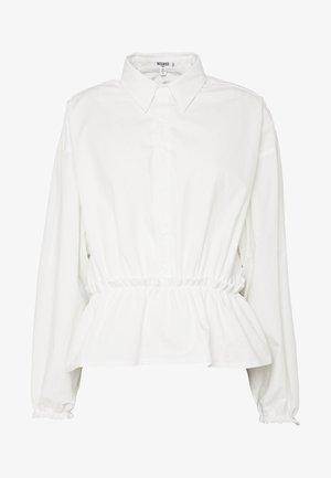 GATHERED WAIST - Camicetta - white