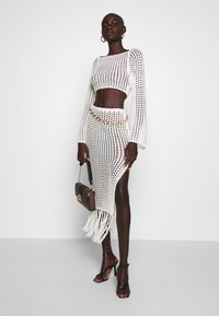 Missguided Tall - WIDE NECK CROCHET CROP - Jersey de punto - cream - 1