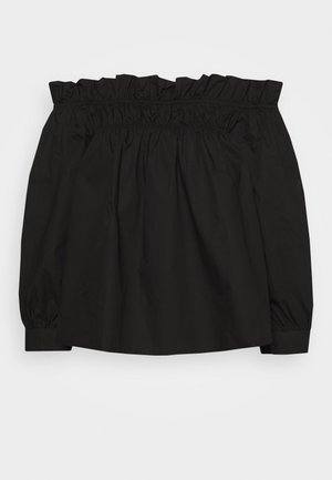 POPLIN BARDOT FRILL DETAIL - Blouse - black
