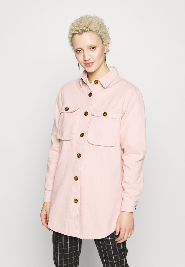 WITH TORTOISE SHELL BUTTONS - Paitapusero - pink