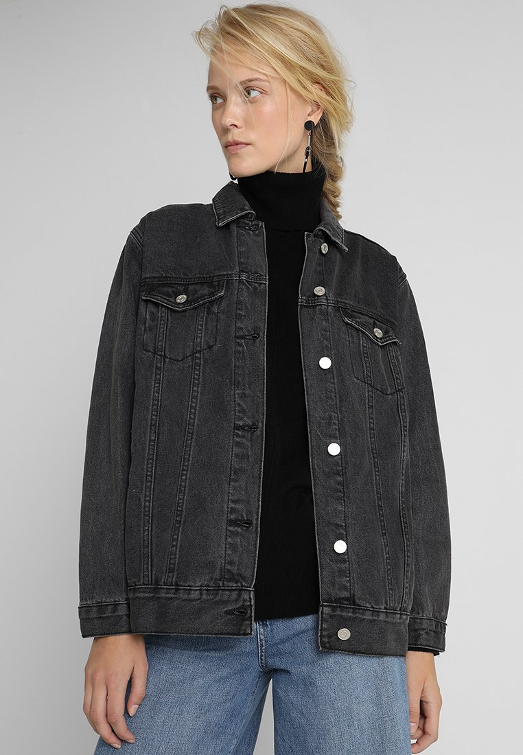 Missguided Tall - Denim jacket - black