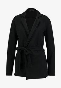 Missguided Tall - TIE WAIST - Blazer - black - 4