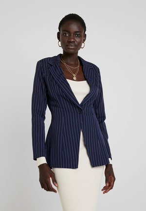 PINSTRIPE ONE BUTTON - Blazer - navy