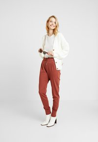 Missguided Tall - BELTED BUCKLE BALLOON SLEEVE CARDIGAN - Cardigan - cream - 1