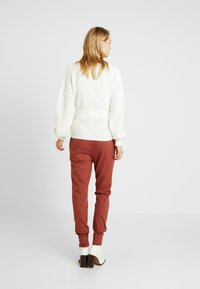 Missguided Tall - BELTED BUCKLE BALLOON SLEEVE CARDIGAN - Cardigan - cream - 2