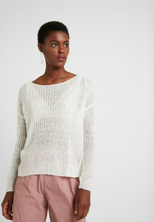 TWIST BACK JUMPER - Jersey de punto - off white