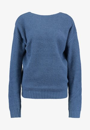 V BACK JUMPER - Neule - blue