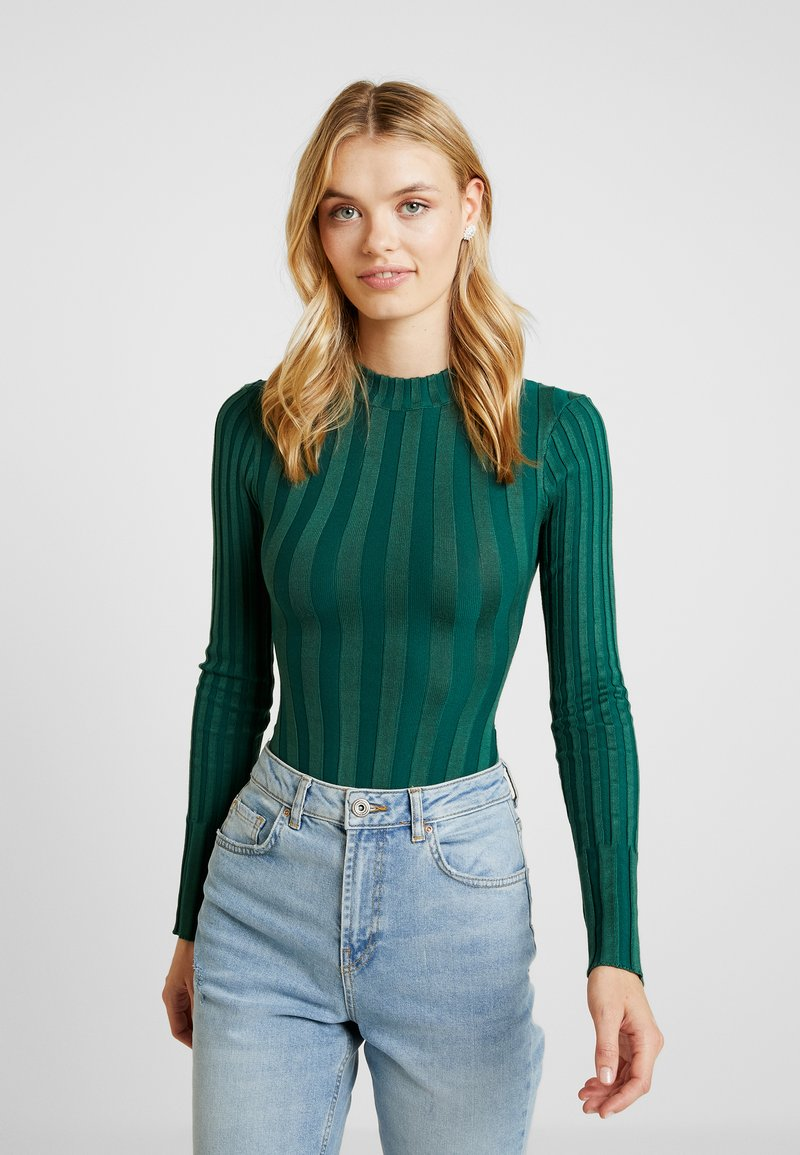 Missguided Tall - CREW NECK BODY 2 PACK  - Jumper - forest green/wine