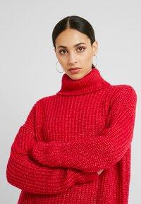 Missguided Tall - ROLL NECK JUMPER - Stickad tröja - bright rapsberry - 4