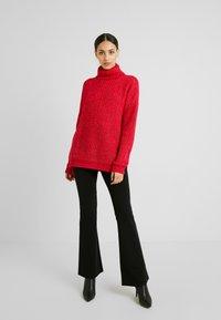 Missguided Tall - ROLL NECK JUMPER - Stickad tröja - bright rapsberry - 1