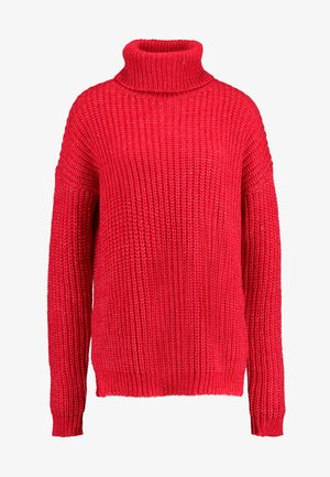 ROLL NECK JUMPER - Maglione - bright rapsberry