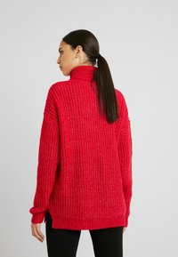 Missguided Tall - ROLL NECK JUMPER - Stickad tröja - bright rapsberry - 2