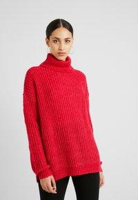 Missguided Tall - ROLL NECK JUMPER - Stickad tröja - bright rapsberry - 0