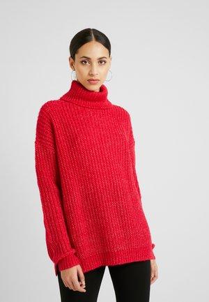 ROLL NECK JUMPER - Strickpullover - bright rapsberry