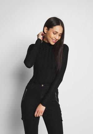 EXTREME HIGH NECK BODYSUIT - Sweter - black