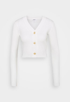 SKINNY CROPPED - Cardigan - white