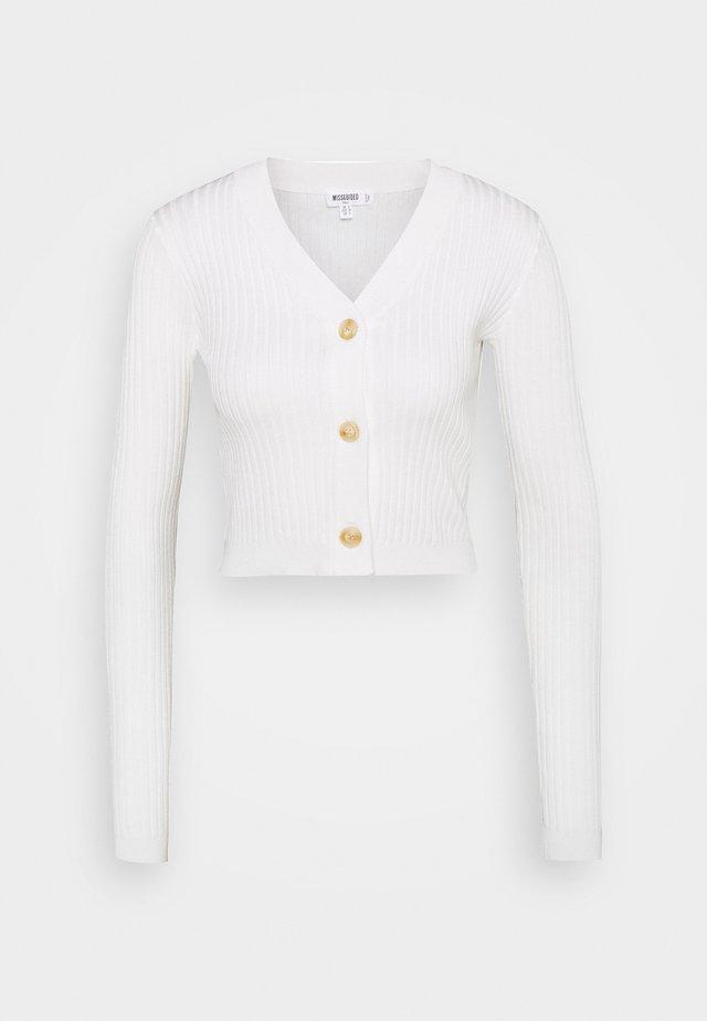 SKINNY CROPPED - Gilet - white