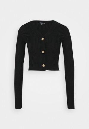 SKINNY CROPPED - Cardigan - black