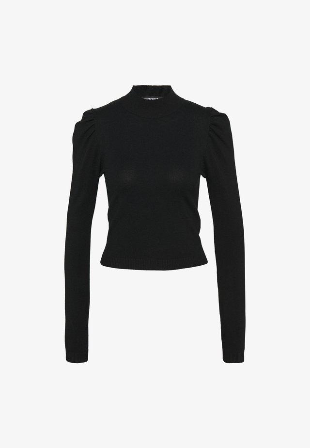 PUFF SLEEVE - Jersey de punto - black