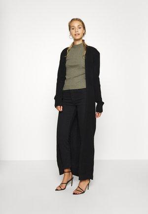 LONGLINE CARDI - Vest - black