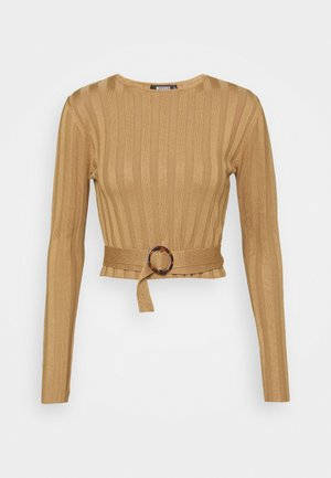 SHELL LONG SLEEVE - Maglione - brown