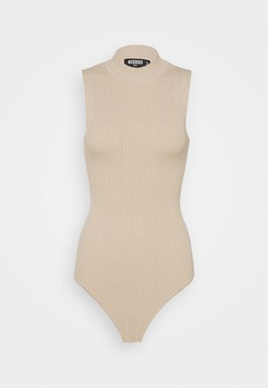 TEXTURED CUT OUT BACK - Top - taupe