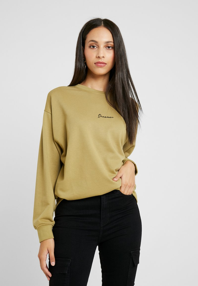 Missguided Tall - DREAMER EMBROIDERED SLOGAN - Sweatshirt - nude