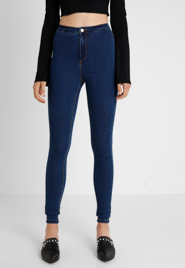 Missguided Tall - VICE HIGH WAISTED  - Jeans Skinny Fit - vintage blue