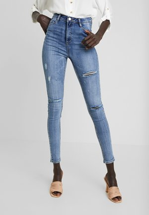 VINTAGE SINNER SLASH HIGH WAIST - Jeans Skinny Fit - blue