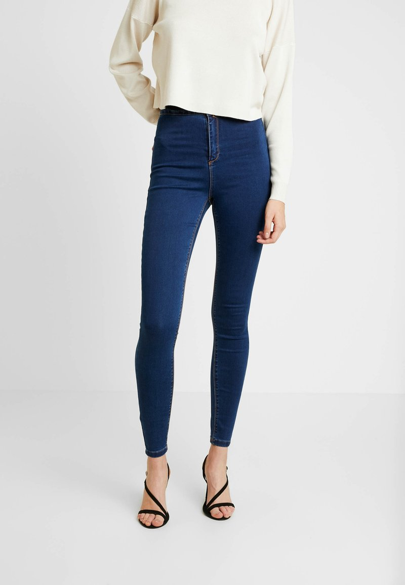 Missguided Tall - VICE HIGHWAISTED - Jeans Skinny Fit - blue