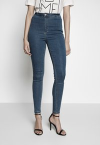 Missguided Tall - VICE HIGHWAISTED - Jeans Skinny Fit - stonewash - 0