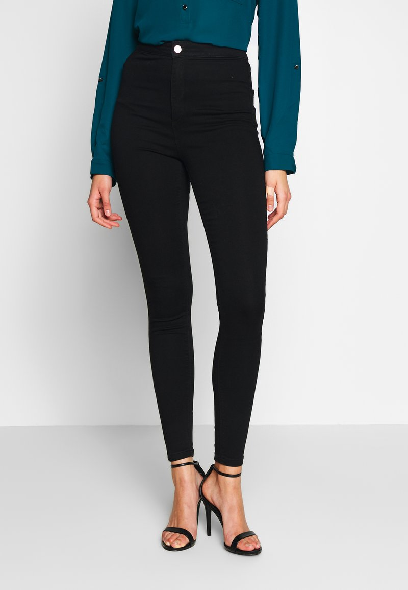 Missguided Tall - VICE HIGHWAISTED - Jeans Skinny Fit - black