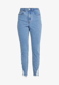 Missguided Tall - SINNER RIP HEM - Jeans Skinny Fit - light blue