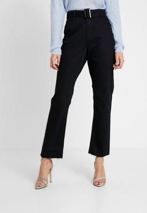 TORTOISE BUCKLE - Jeans straight leg - black
