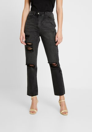 WRATH HIGHWAISTED STRAIGHT LEG  - Straight leg jeans - washed black