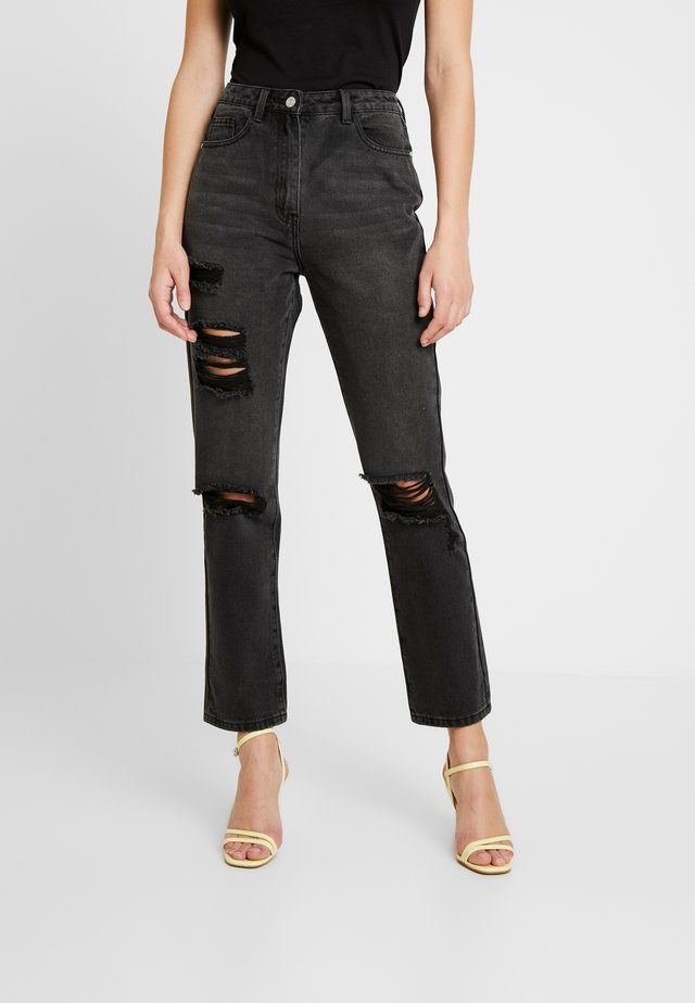 WRATH HIGHWAISTED STRAIGHT LEG  - Jeans Straight Leg - washed black