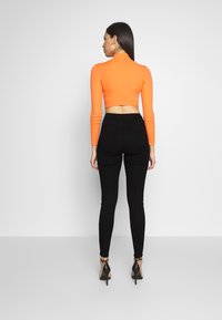 Missguided Tall - VICE BUTTON UP SKINNY  - Skinny džíny - black - 2