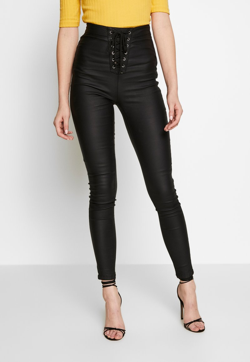 Missguided Tall - VICE COATED FRONT - Jeans Skinny - black