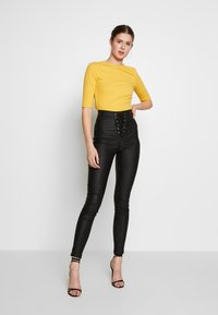 Missguided Tall - VICE COATED FRONT - Jeans Skinny - black - 1