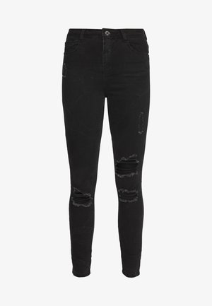 SINNER HIGHWAISTED AUTHENTIC RIPPED SKINNY - Jeans Skinny - black