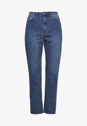 WRATH HIGHWAISTED SPLIT HEM LEG JEAN MID WASH - Jeans straight leg - mid wash