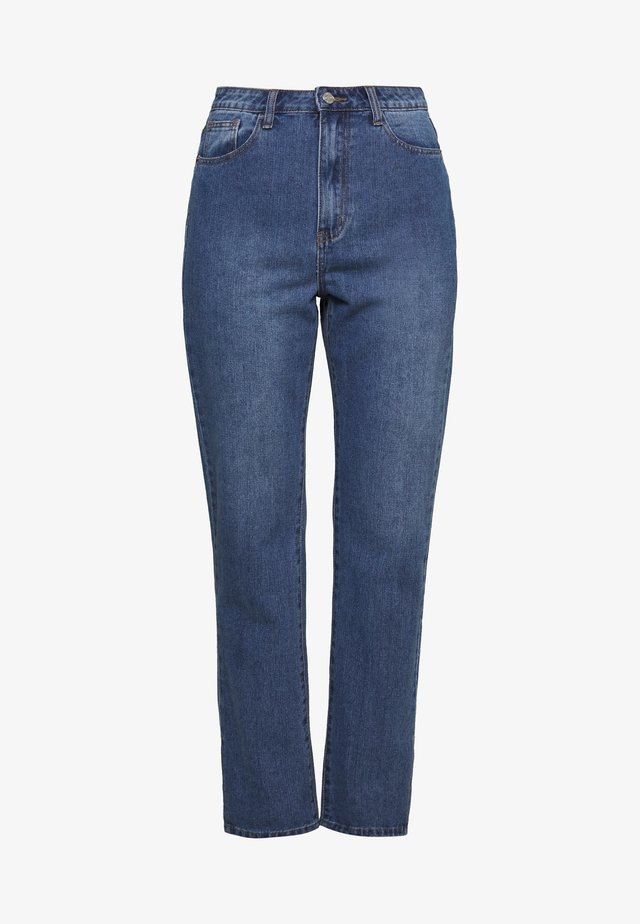 WRATH HIGHWAISTED SPLIT HEM LEG JEAN MID WASH - Jeans Straight Leg - mid wash